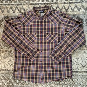 Patagonia Organic Cotton Plaid Button Down L